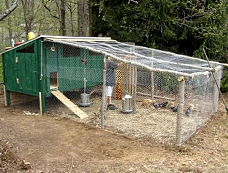 Chickens coops are easy to make. You can buy may types and sizes in kit form